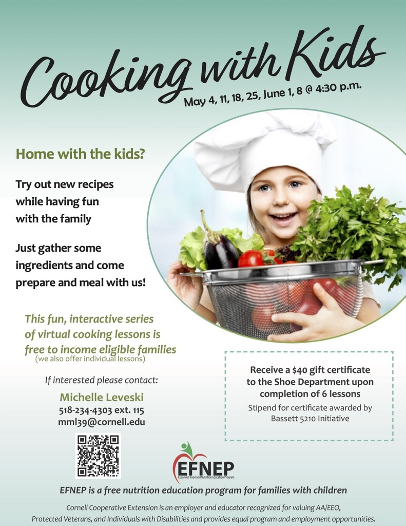 free cooking with kids virtual classes